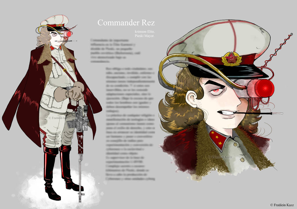 Commander Rez --- Concept Art by Fraulein-Kazz