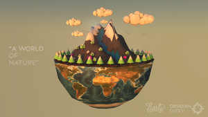 Obsidian Entry / Low Poly / A World Of Nature by EarlyDZN