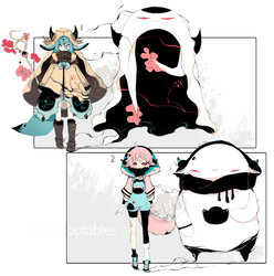 [CLOSED] ADOPT AUCTION 213-Shadowmonsters by Piffi-sisters