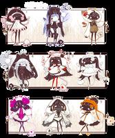 [CLOSED] ADOPT SET PRICE 293 - Selva Spirits by Piffi-sisters
