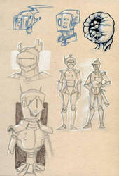 toned sketches by OniPolice