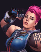 Overwatch: Zarya by ruthiebutt