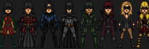 Bat and Arrow Families (Earth 9-17) by KieranCampbell