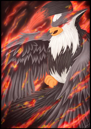 Staraptor used sky attack - Pokemon by AuraGoddess