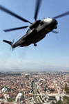 CH53 helicopter arrive landing in Pristina, Kosova by sk8art