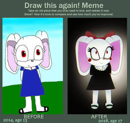 Draw This Again - August the Rabbit by Robotic-Mind