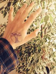 Da Vinci - Uomo Vitruviano 'tattoo' by SaintGlinglin