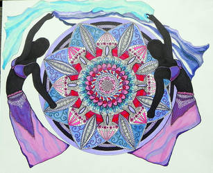 First belly dance mandala (traditional) by Lou-in-Canada