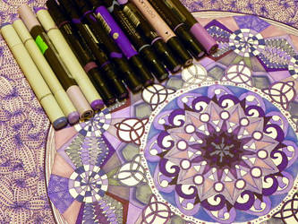 mandala purple by Lou-in-Canada