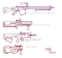 Weapons designs 1 by LoomingColumn