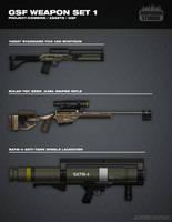 GSF Weapon Set 1 by FutureFavorite