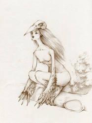 Harpy - Sketch by KmyeChan