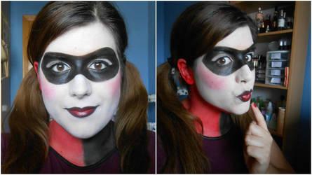 Harley Quinn Halloween Makeup 2015 by aita92