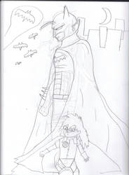 DBZ's Batman AKA Batnamek by Generalobiwankenobi7