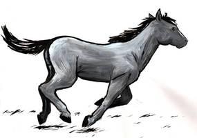 running horse by daidaishar