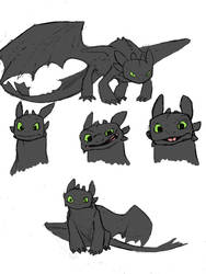 Toothless sketches by daidaishar