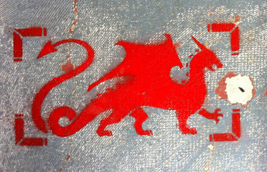 Rectangular Dragon Stencil by daidaishar