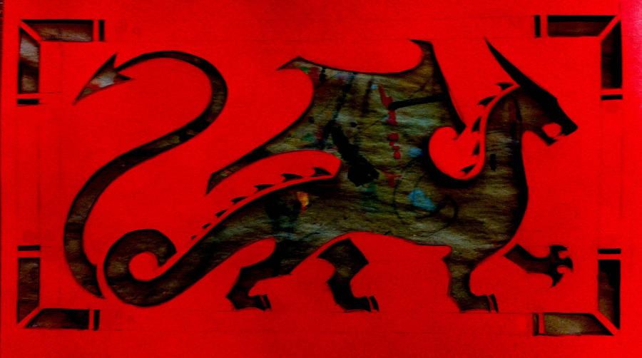 Rectangular Dragon Stencil by daidaishar
