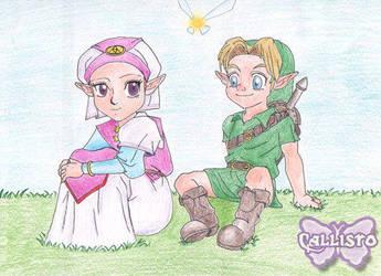 Old Stuff- Link and Zelda by CallistoHime