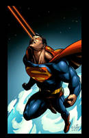 Superman coloring by EspenG