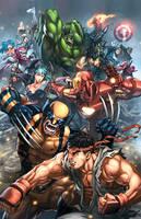 Marvel vs Capcom 3 promo piece by EspenG
