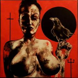 La fille au Corbeau by PriestofTerror
