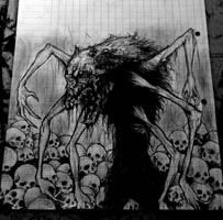 Spider werewolf by PriestofTerror