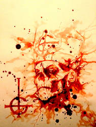 Ghost print signed with my blood by PriestofTerror