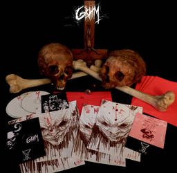 GRIIIM I edition cd with original art by PriestofTerror