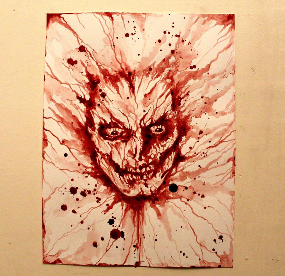 Self Portrait in blood by PriestofTerror