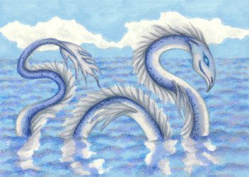 Sea Serpent by Flyttamouse