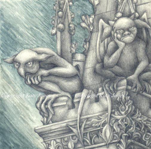 Gargoyles by Flyttamouse