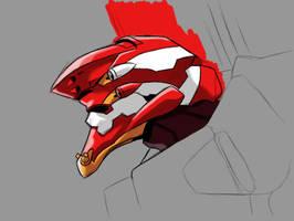 Eva Unit 02 in progress by ShadowedImages