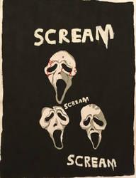 Scream/Ghost Face Fanart by Camelgangster