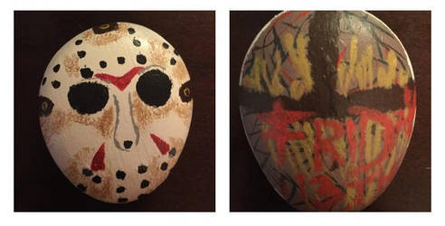 Friday the 13th/Jason Voorhees Rock Painting by Camelgangster
