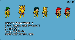 Sanctuary LSW Project: Genao Gold Saints [W.I.P.] by JatamanWoogy