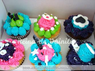 Cupcakes Colores by harleshinn