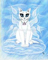 Elemental Air Fairy Cat by tigerpixieart
