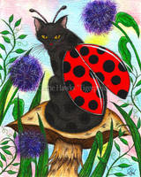 Logan The Ladybug Fairy Cat by tigerpixieart