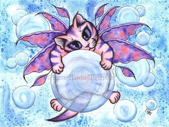 Bubble Fairy Kitten by tigerpixieart