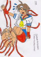 Sakura Kasugano tickled by falcontk