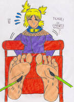 Temari of Naruto Tickled by falcontk