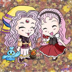 Chibi Girls Talk by MelodyCrystel