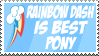 Stamp: Rainbow Dash Is Best Pony by MyPaintedMelody