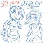 Doodle Commissions by VividVapor