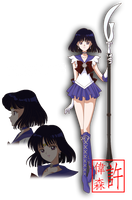 Sailor Saturn - Sailor Moon Crystal by xuweisen