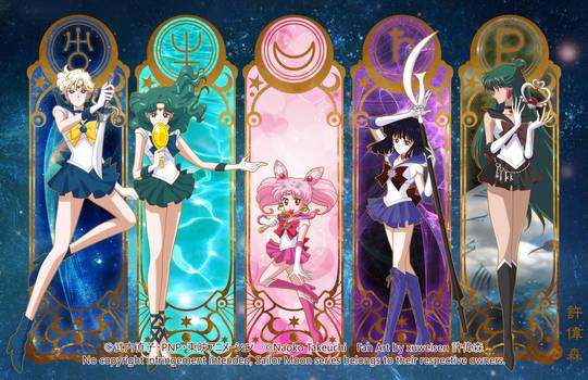 Sailor Moon Crystal (Outer Senshi) by xuweisen