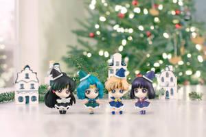 Outer Senshi Christmas Petit Chara (Fanmade edit) by xuweisen
