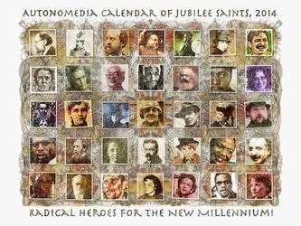 Autonomedia Calendar of Jubilee Saints, 2014 by james119