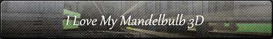 I Love My Mandelbulb3D Button by PaMonk